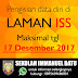 PENGISIAN DATA DIRI di LAMAN ISS TERAKHIR 17 DESEMBER 2017