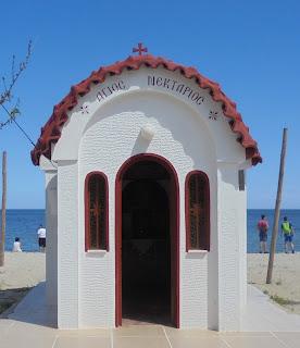 το παρεκκλήσι του αγίου Νεκταρίου στην παραλία της Κατερίνης