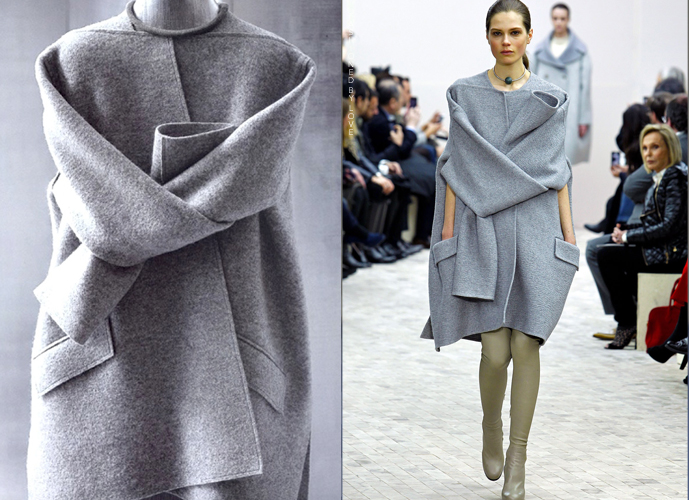 Fashion copycats Geoffrey Beene Fall/Winter 2004 VS Celine Fall/Winter 2013 via www.fashionedbylove.co.uk