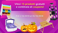 Logo Songmics Italia ''No Tricks, Just Treats'': vinci gratis 15 prodotti e centinaia di coupons