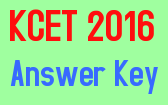 KCET 2016 Answer Key, KCET 2016, KCET Answer Key 2016