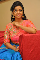 Nithya Shetty in Orange Choli at Kalamandir Foundation 7th anniversary Celebrations ~  Actress Galleries 117.JPG