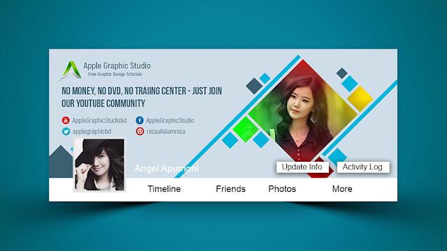 Creative facebook cover design photoshop tutorial desymbol for Design ideas facebook