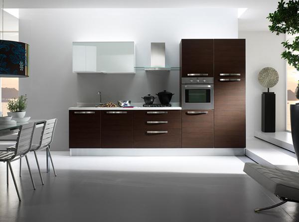 Cocinas lineales nada presuntuosas cocinas con estilo - Cocinas en forma de ele ...
