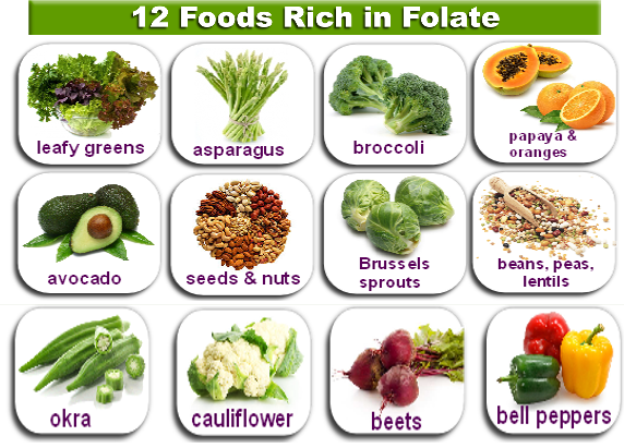Natural Foods Containing Folate