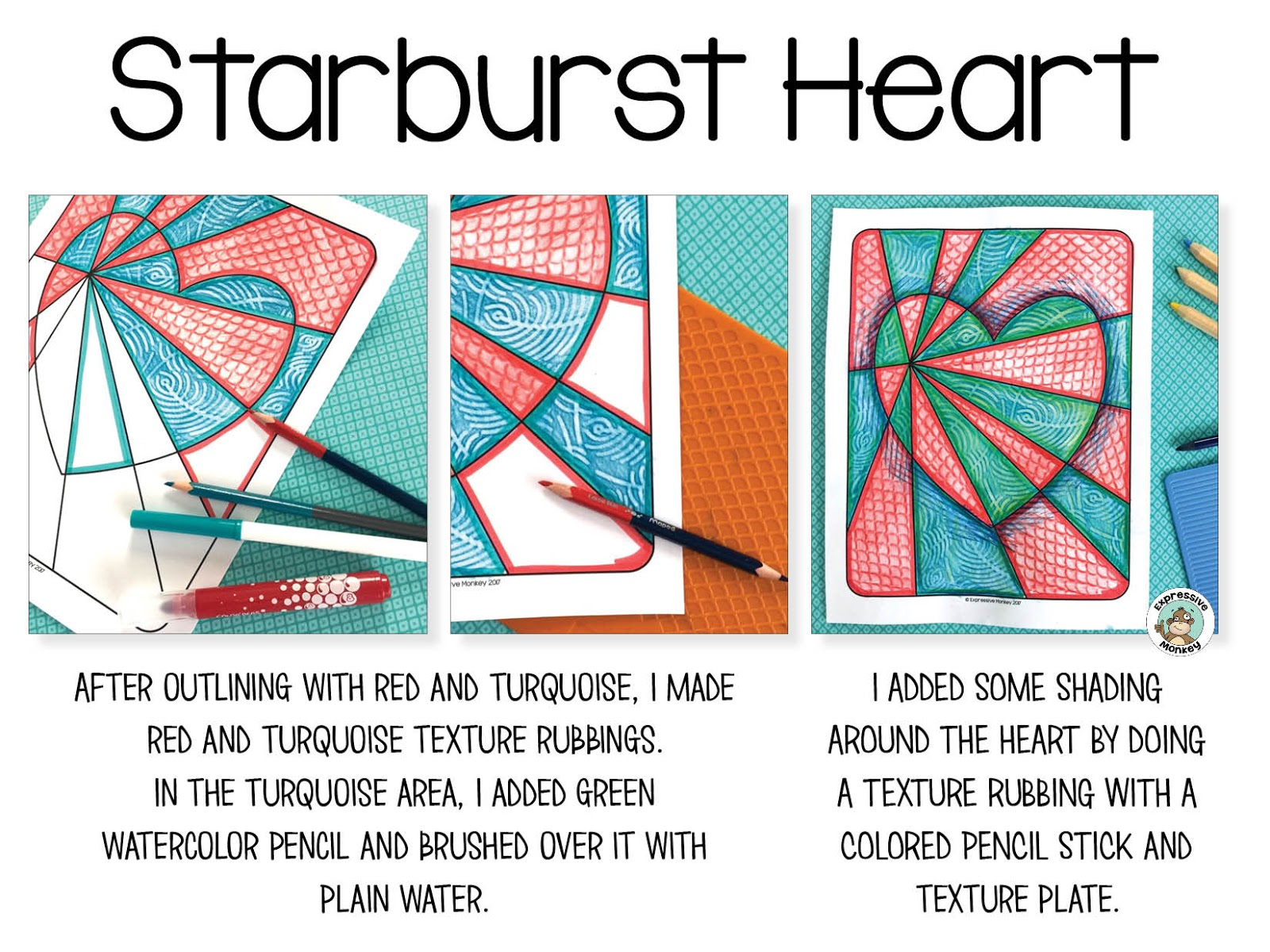 for this demonstration i used coloring sheets from my op art hearts coloring pages if youd like the instructions for drawing your own hearts the op art