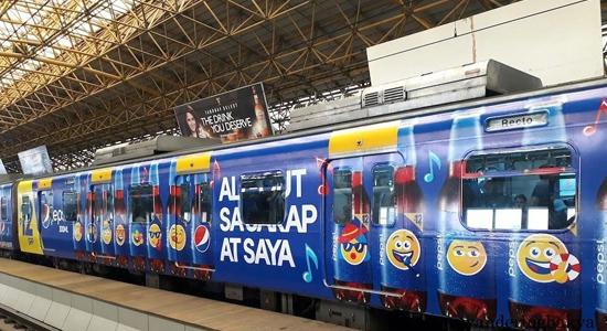 Train wrap フィリピン電車広告