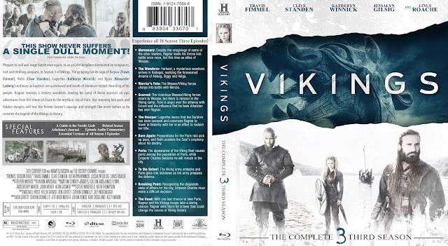 Vikings Season 3 Bluray Cover