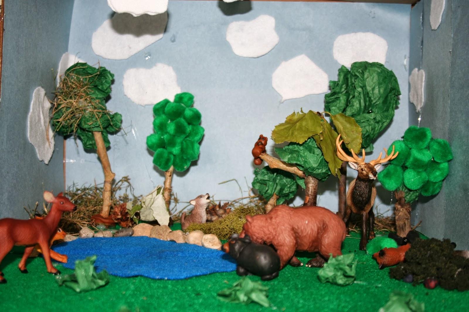 Grassland Diorama Shoebox