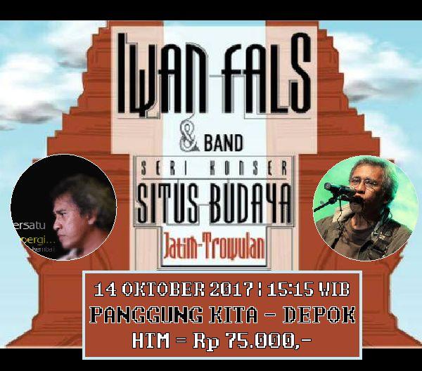 Poster konser Iwan Fals Depok 2017 10 Oktober