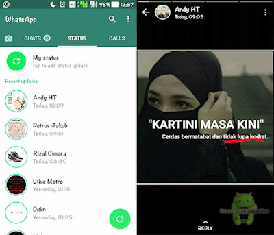 Cara Membuat Status Foto Dan Video Di Whatsapp Android