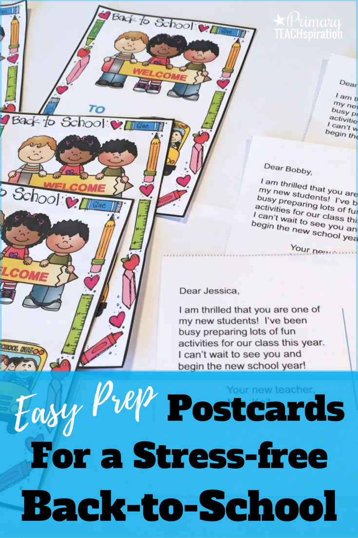 Back-to-School Welcome Letter and Postcard
