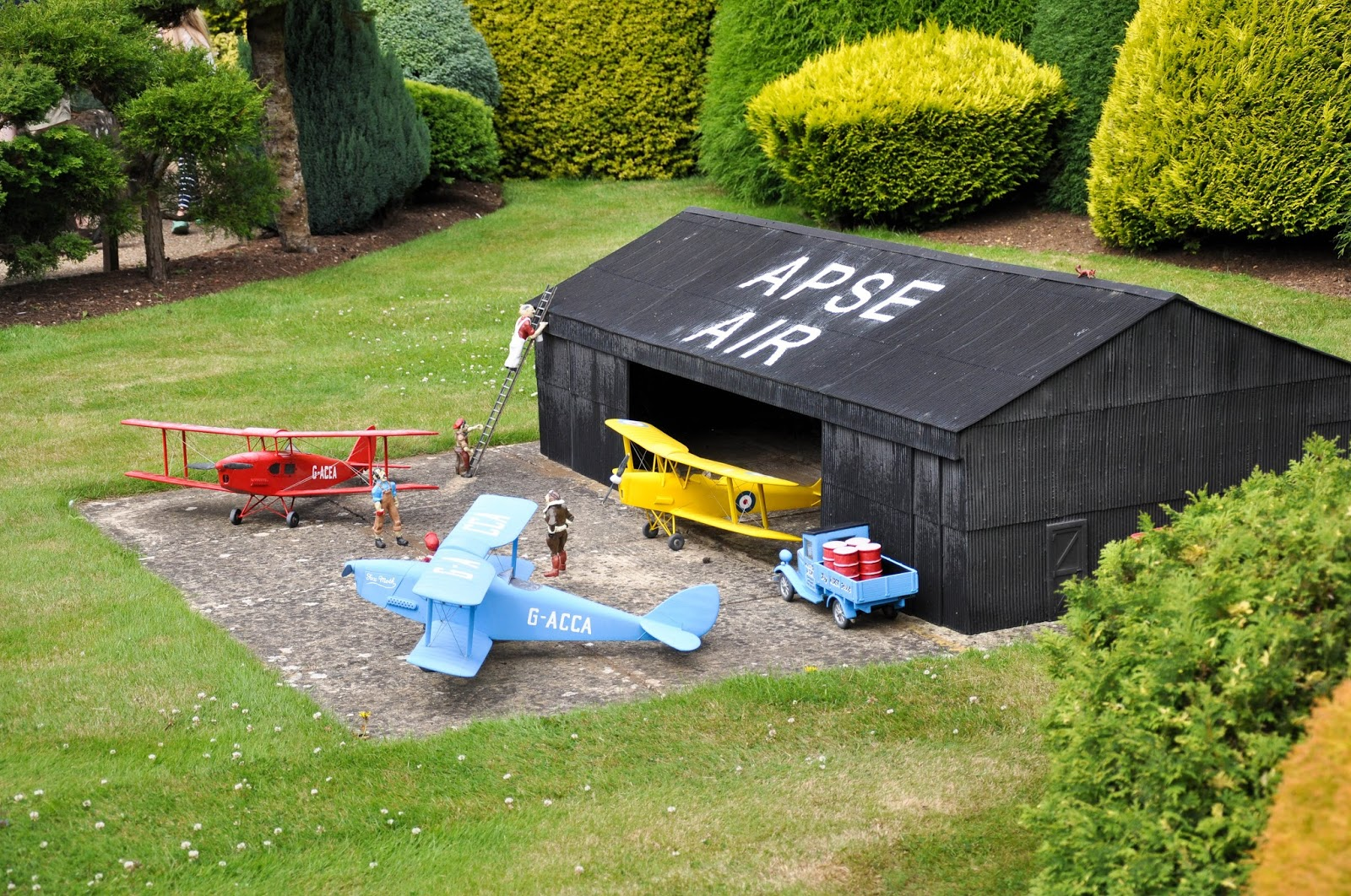The air base, Model Village, Godshill, Isle of Wight, UK