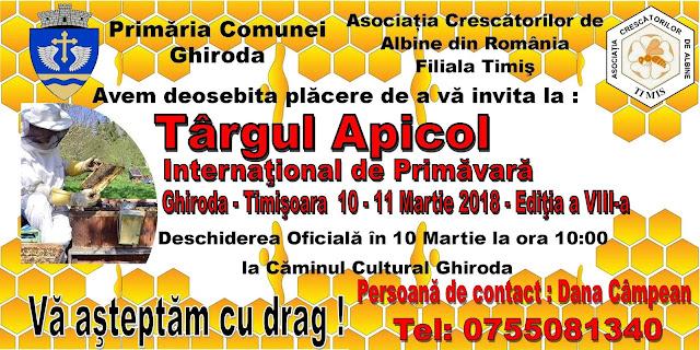 Ghiroda organizeaza in perioada 10-11 martie, ediţia a VIII-a Târgului Apicol