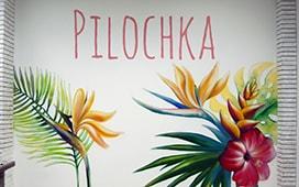 Роспись стен в салоне красоты PILOCHKA