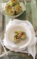 Alcachofas con crumble de almendras
