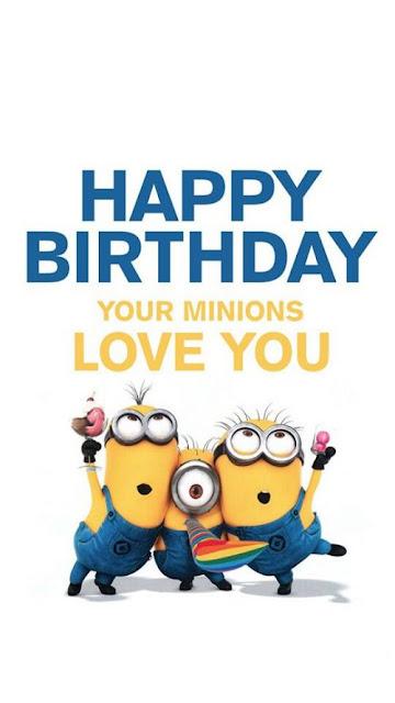 Hình ảnh Minion chúc mừng sinh nhật đáng yêu và ngộ nghĩnh