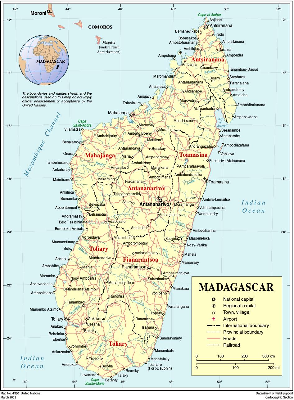 Madagascar | Mapas Geográficos de Madagascar