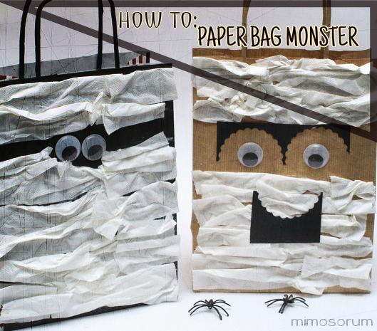 Bolsas de Papel para Halloween - Paper Bag Monster.
