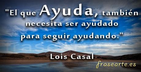 frases solidarias de Lois Casal