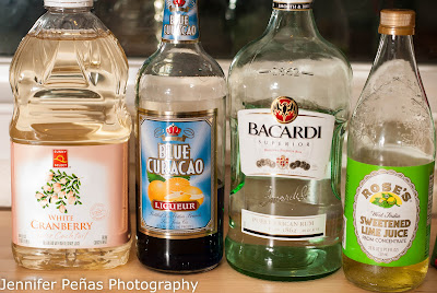 Blue Blue Christmas, cocktail, rum, cranberry juice, blue curacao, lime juice, christmas cocktail