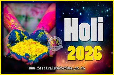 2026 Holi Festival Date & Time, 2026 Holi Calendar