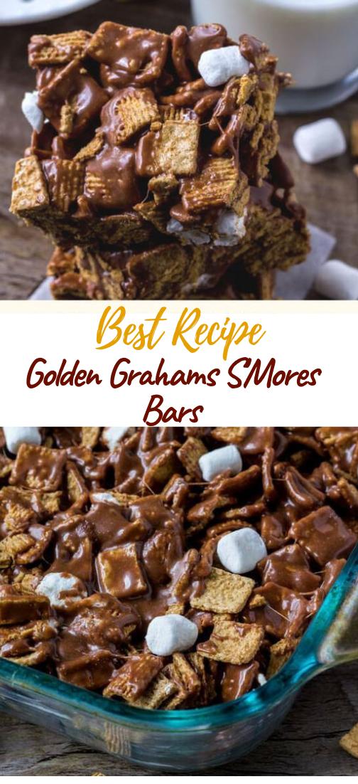 Golden Grahams S'Mores Bars #desserts #cakerecipe