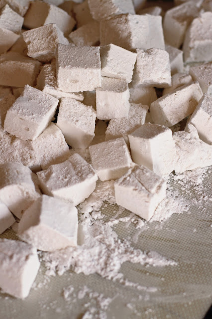 Homemade vanilla bean marshmallows