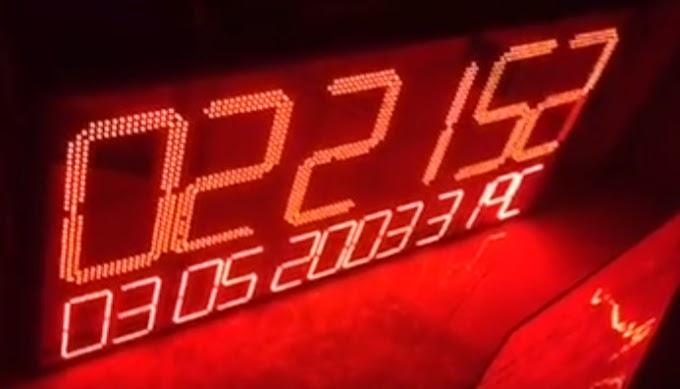 Đồng hồ led lịch vạn niên treo tường - Giant Clock