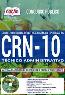 Apostila Técnico Administrativo - CRN 10 Região - 2018