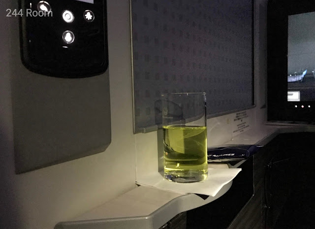 JALビジネスクラスシートドリンク Business class drink