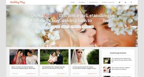 Wedding Mag Responsive Blogger Template