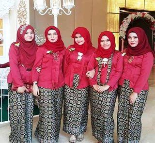 Model Baju Seragam Keluarga Untuk Pesta Pernikahan Galeri Batik