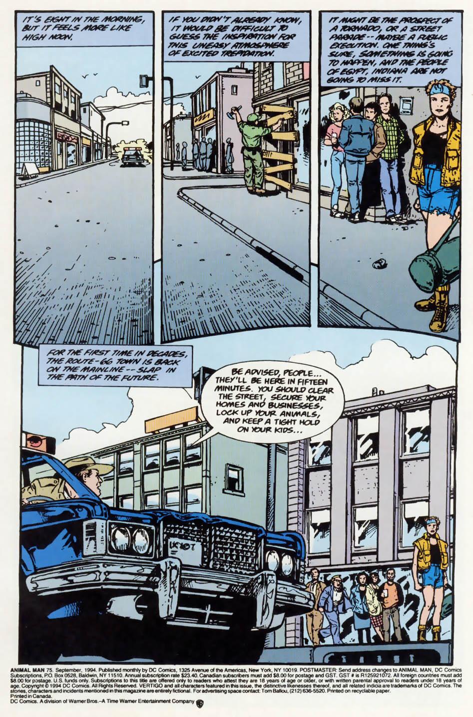 Read online Animal Man (1988) comic -  Issue #75 - 2