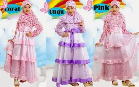 Baju muslimanak perempuan Merek Aini yang cantik dan syar'i