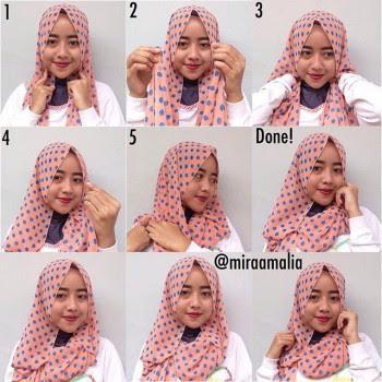 Cara Memakai Jilbab Pashmina Praktis dan Simple