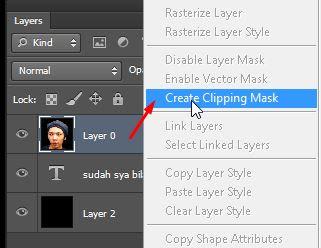 gunakan fitur create clipping mask