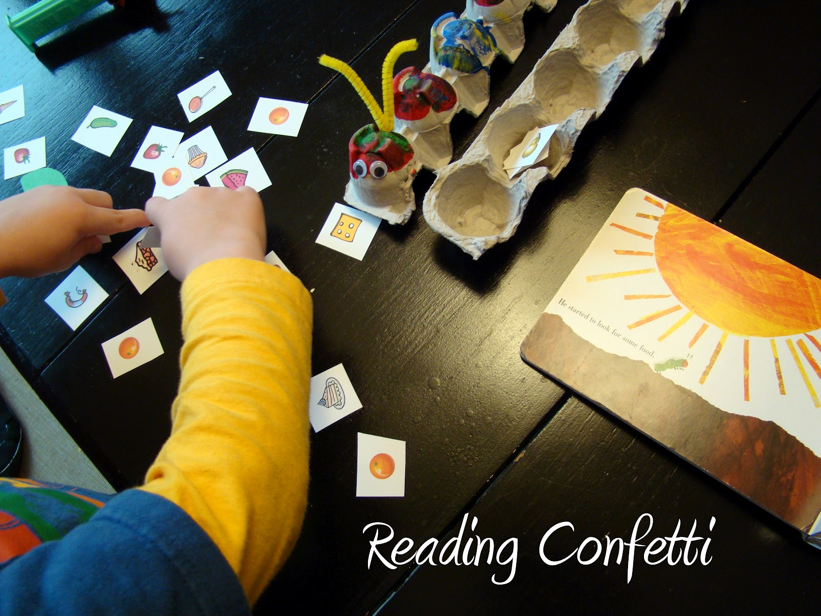Feed The Very Hungry Caterpillar Amp Printable Reading Confetti