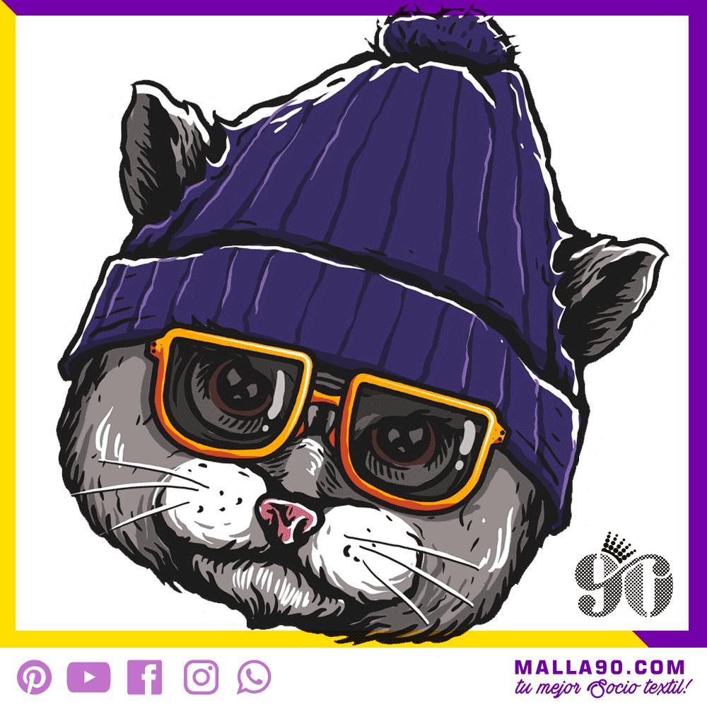 Gato hipster Diseños sin Copyright