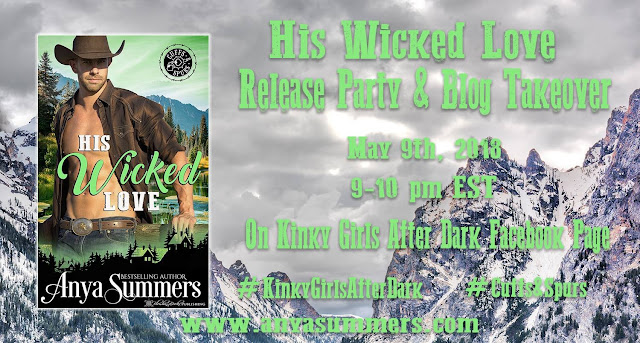 Join Anya Summers' His Wicked Love Release Party