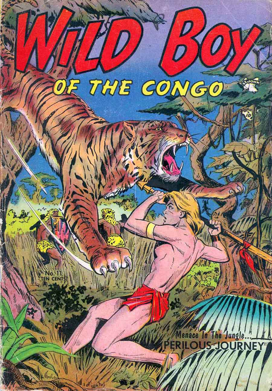 Wild Boy of the Congo v1 #11 - Matt Baker st john golden age comic book cover art