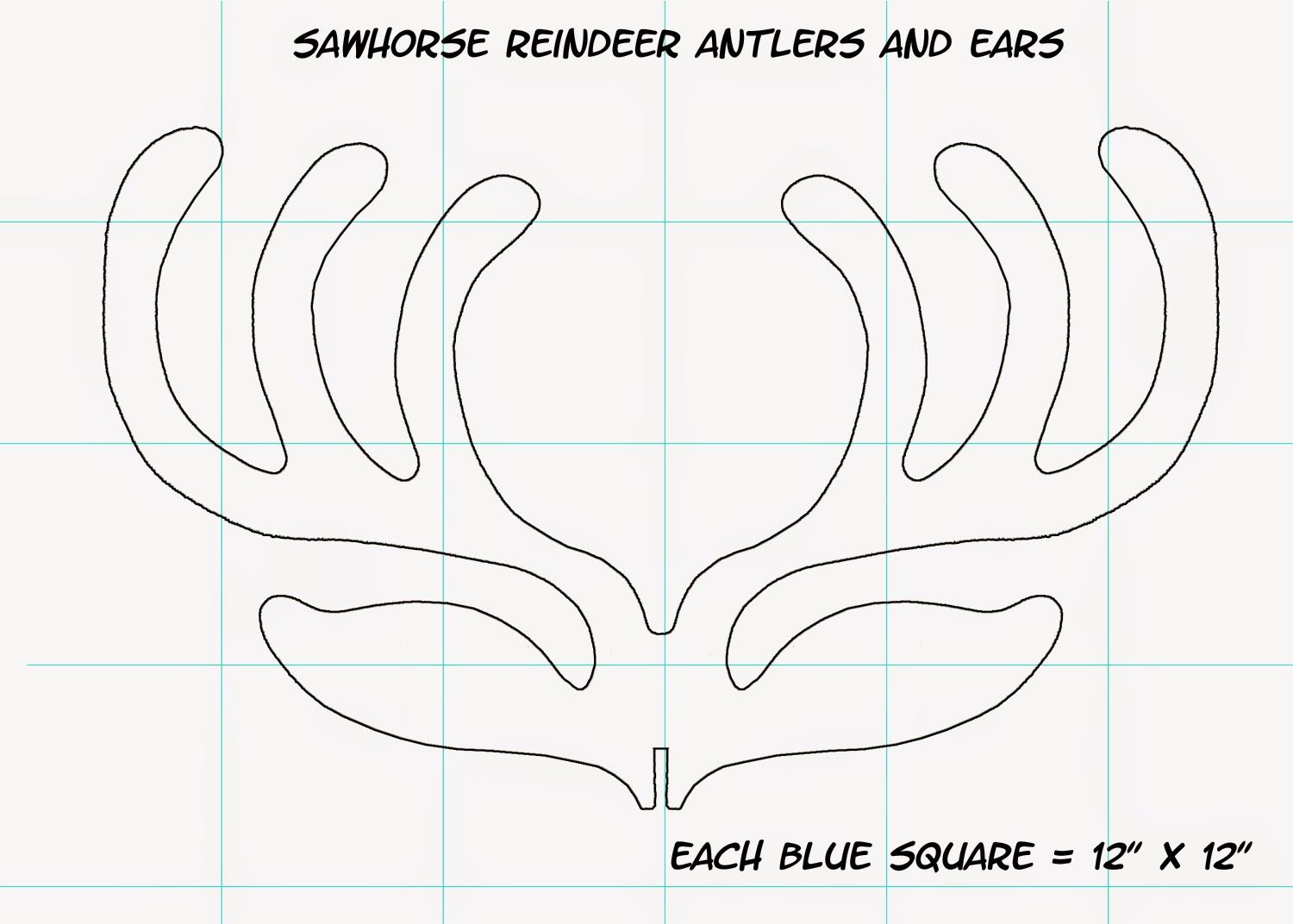 Dave lowe design the blog sawhorse reindeer how to for Template for reindeer antlers