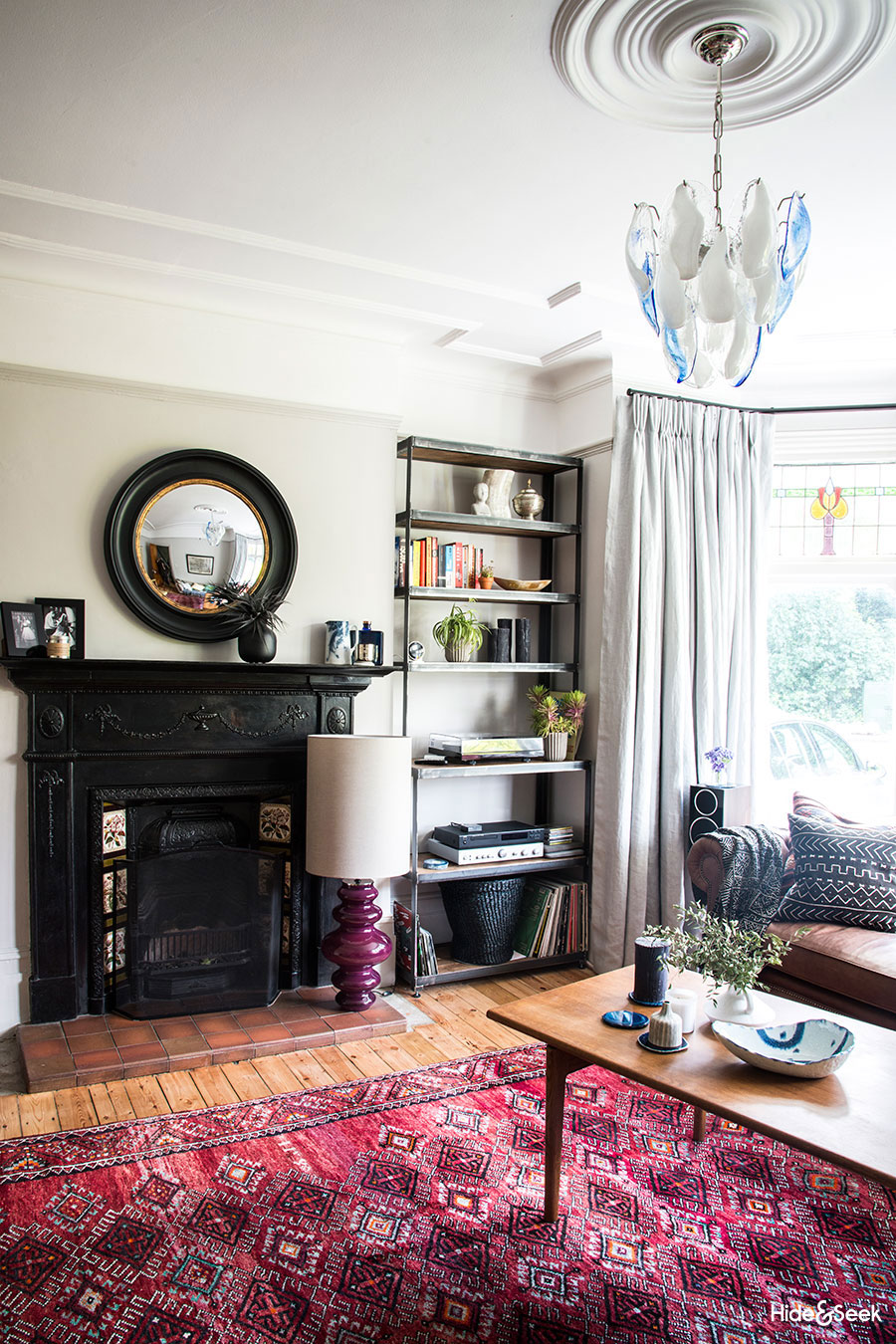 Before after an eclectic edwardian living room design for Eclectic living room design