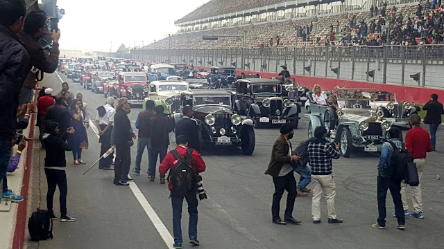 6th 21 Gun Salute International Vintage Car Rally and Concours Show at Buddh International Circuit, Greater Noida