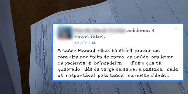 Manoel Ribas: Moradora usa rede social para reclamar da Saúde...