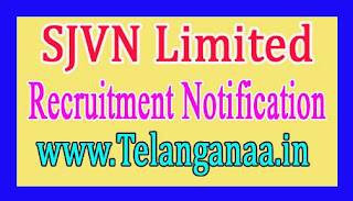 SJVN Limited Recruitment Notification 2017