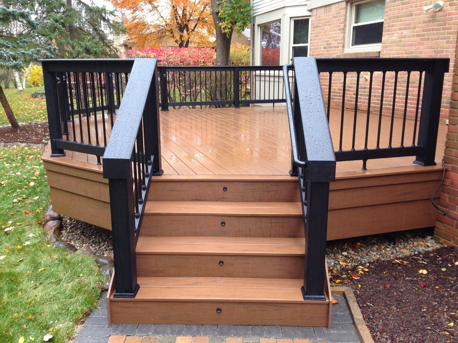 Wood Deck Ideas Marvelous Decoration Wood Deck Railings