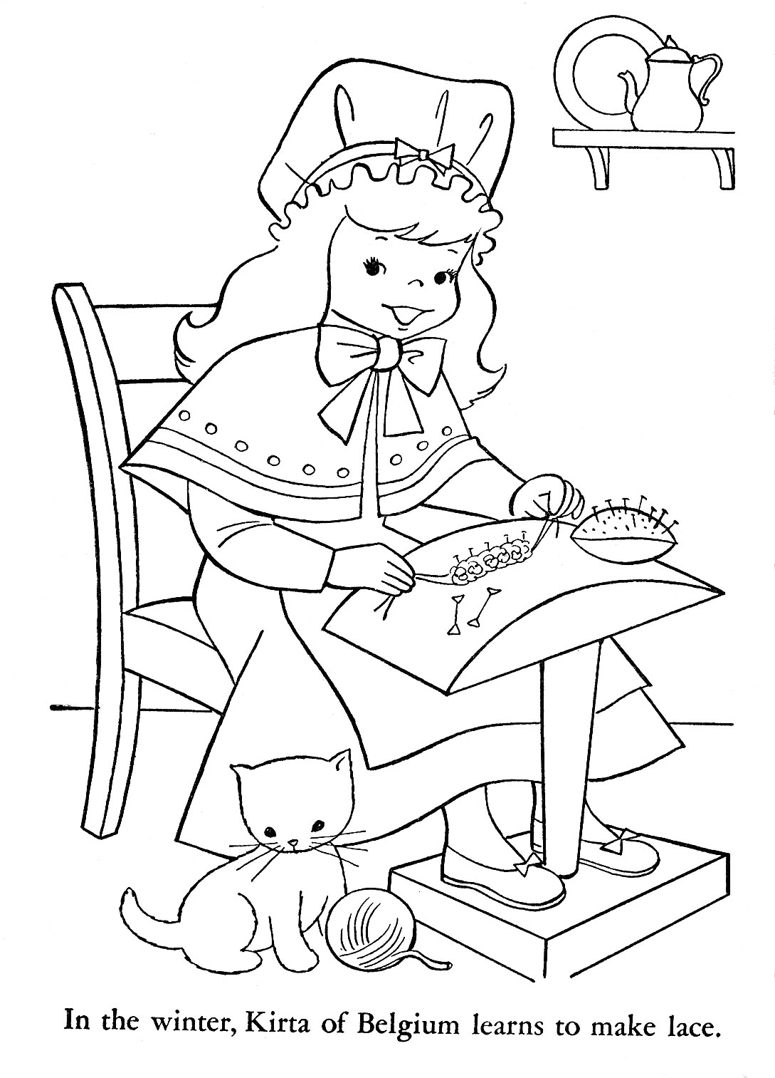 Belgium Waffles Page Coloring Pages