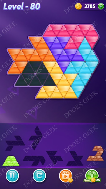 Block! Triangle Puzzle Intermediate Level 80 Solution, Cheats, Walkthrough for Android, iPhone, iPad and iPod