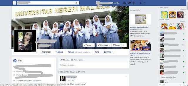 cara mudah mengganti foto profile Facebook teman